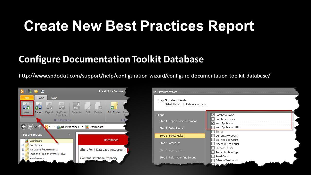 Create New Best Practices Report
