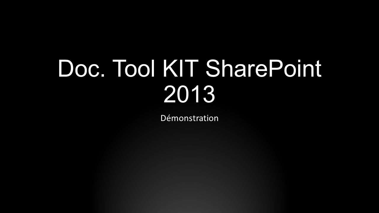 Doc. Tool KIT SharePoint 2013
