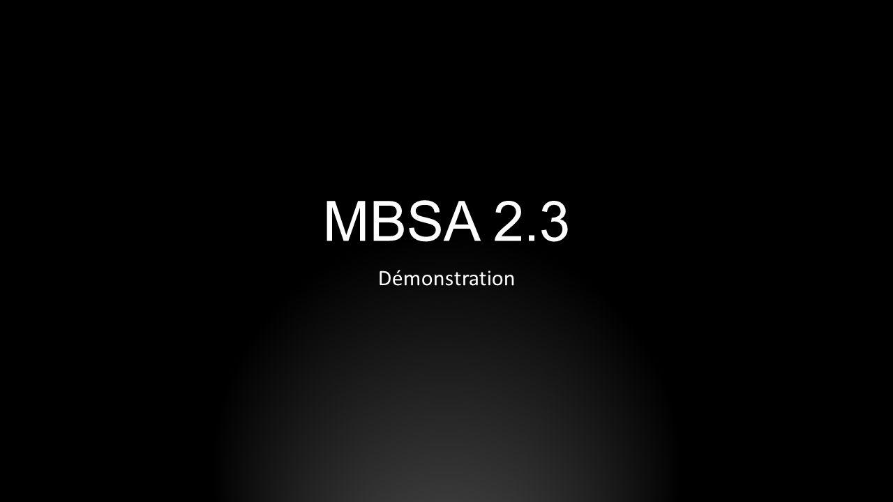 MBSA 2.3 Démonstration