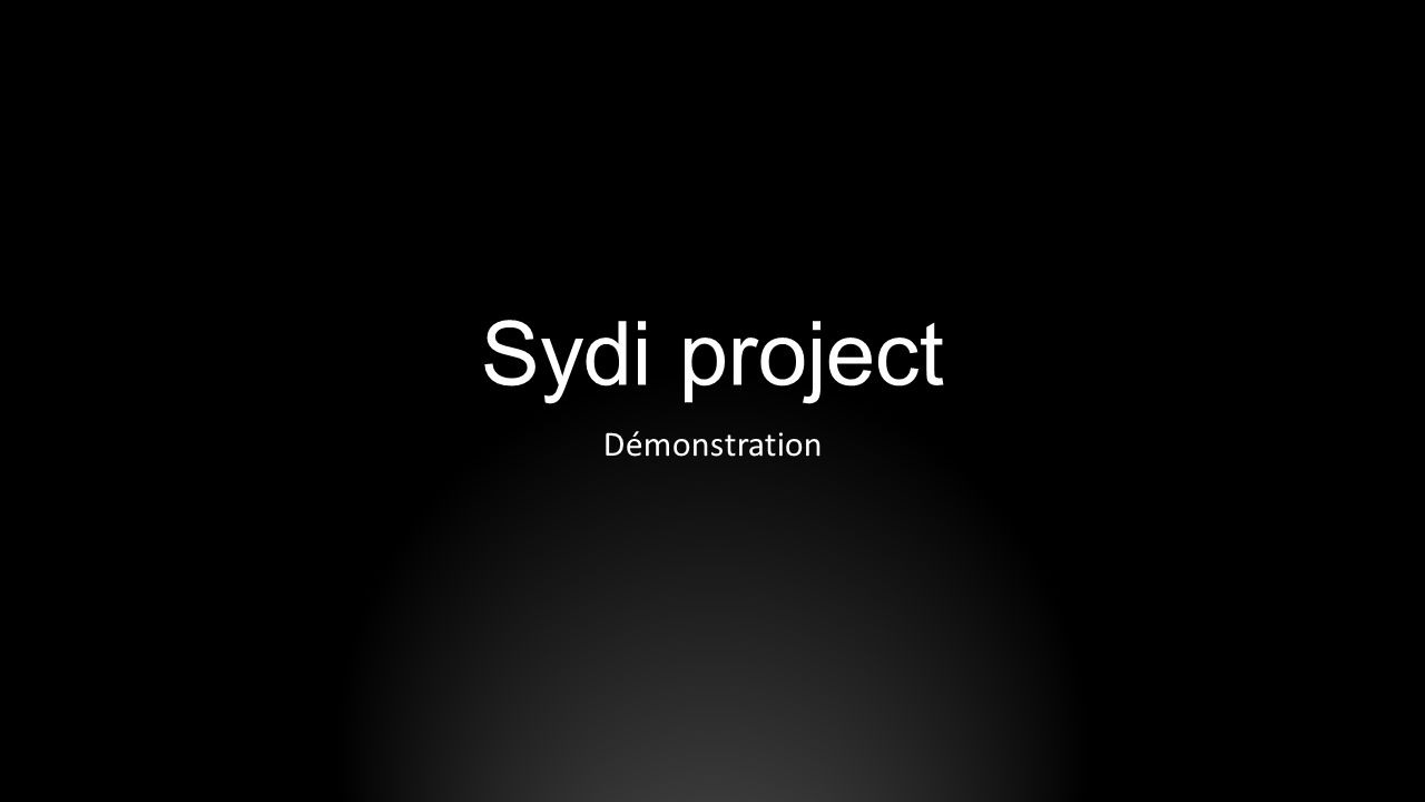 Sydi project Démonstration SYDI s home page can be found here: