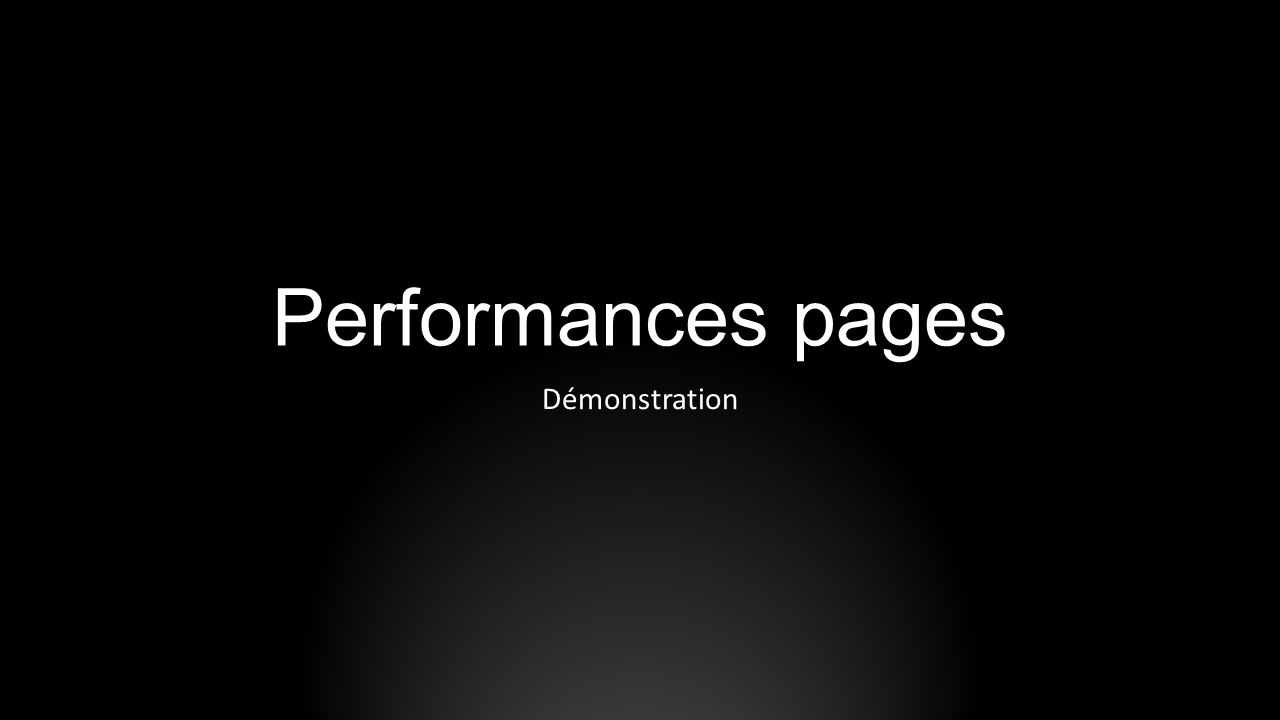 Performances pages Démonstration SYDI s home page can be found here: