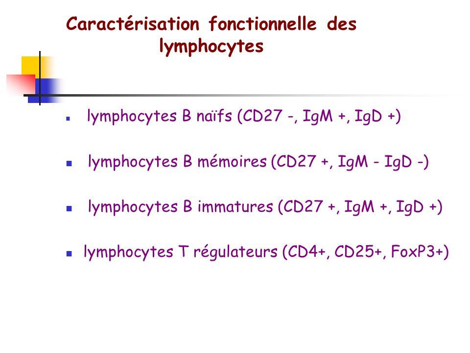 Caractérisation fonctionnelle des lymphocytes