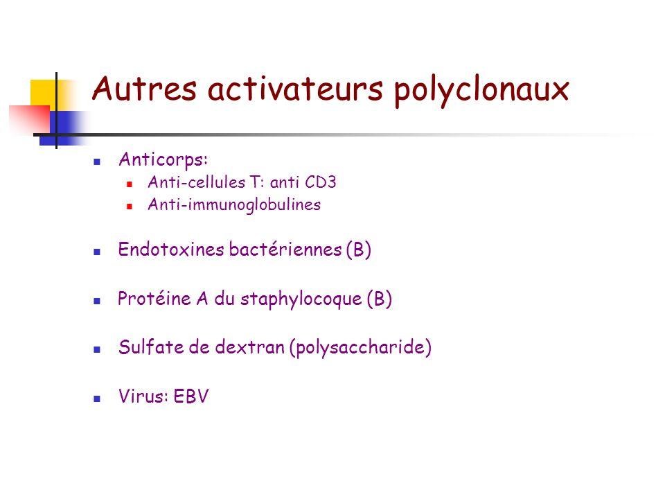 Autres activateurs polyclonaux
