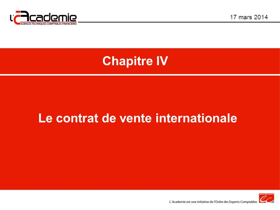 Le contrat de vente internationale