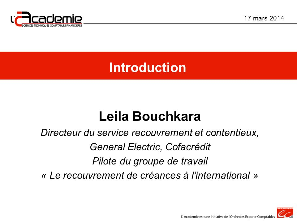 Introduction Leila Bouchkara