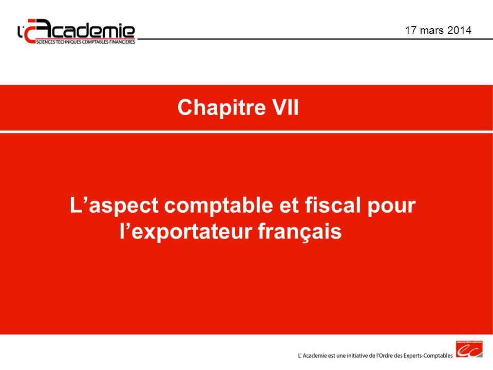 L'aspect comptable et fiscal pour l'exportateur français