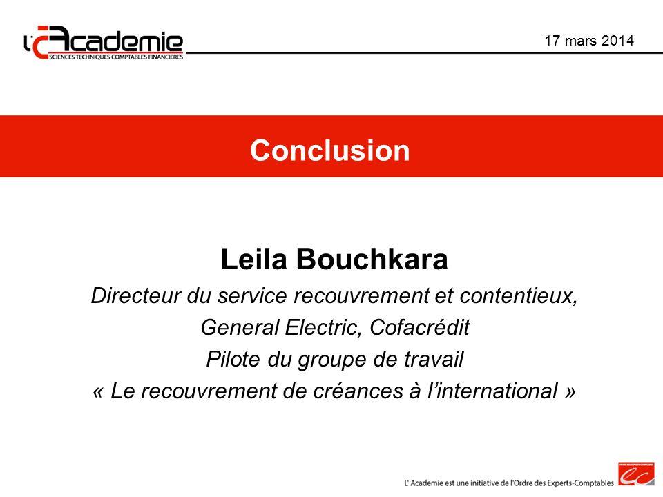Conclusion Leila Bouchkara