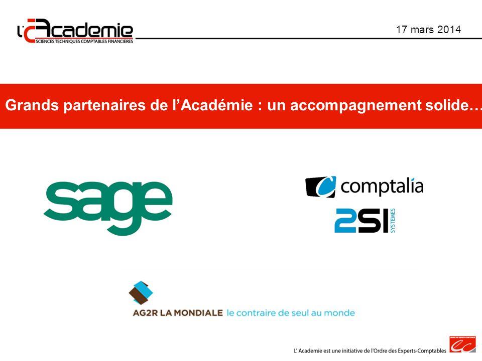 Grands partenaires de l'Académie : un accompagnement solide…