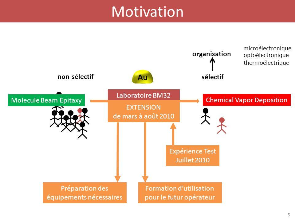 Motivation organisation Si non-sélectif sélectif Laboratoire BM32