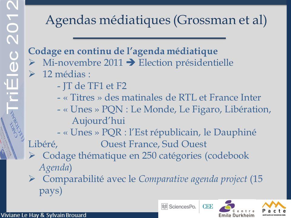 Agendas médiatiques (Grossman et al)