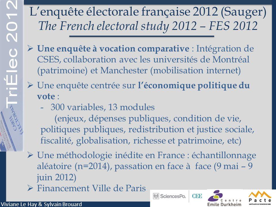 L'enquête électorale française 2012 (Sauger) The French electoral study 2012 – FES 2012
