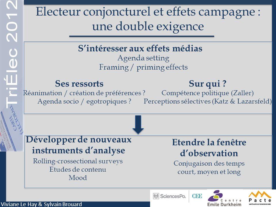Electeur conjoncturel et effets campagne : une double exigence