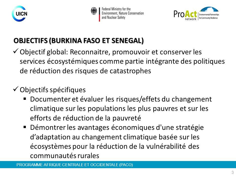 OBJECTIFS (BURKINA FASO ET SENEGAL)