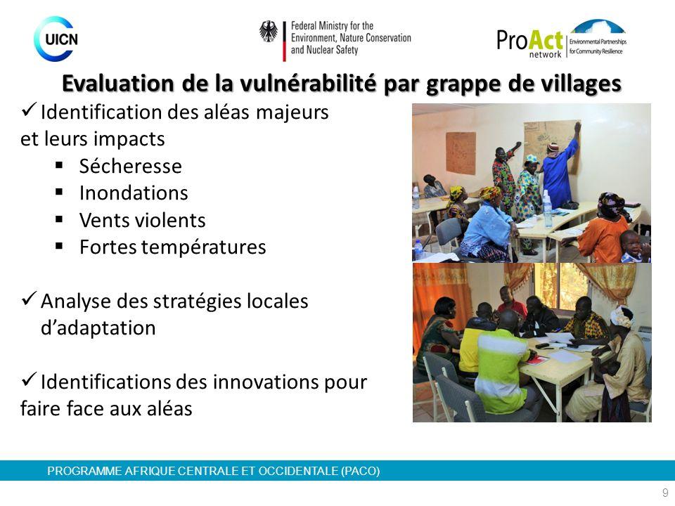 Evaluation de la vulnérabilité par grappe de villages