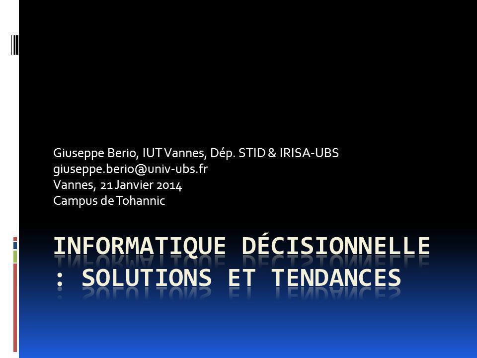 Informatique décisionnelle : solutions et tendances