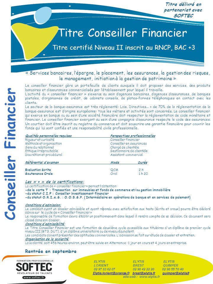 Titre délivré en partenariat avec SOFTEC