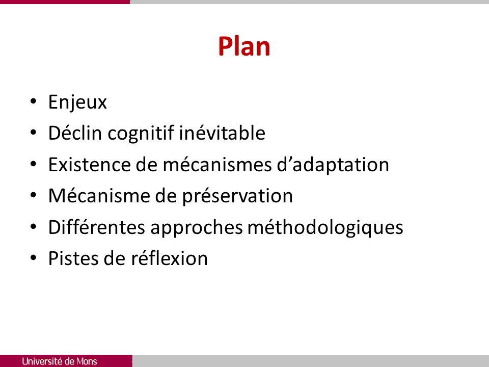 Plan Enjeux Déclin cognitif inévitable