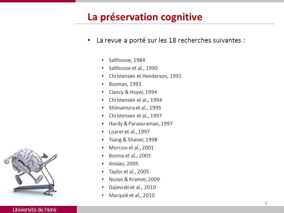 La préservation cognitive