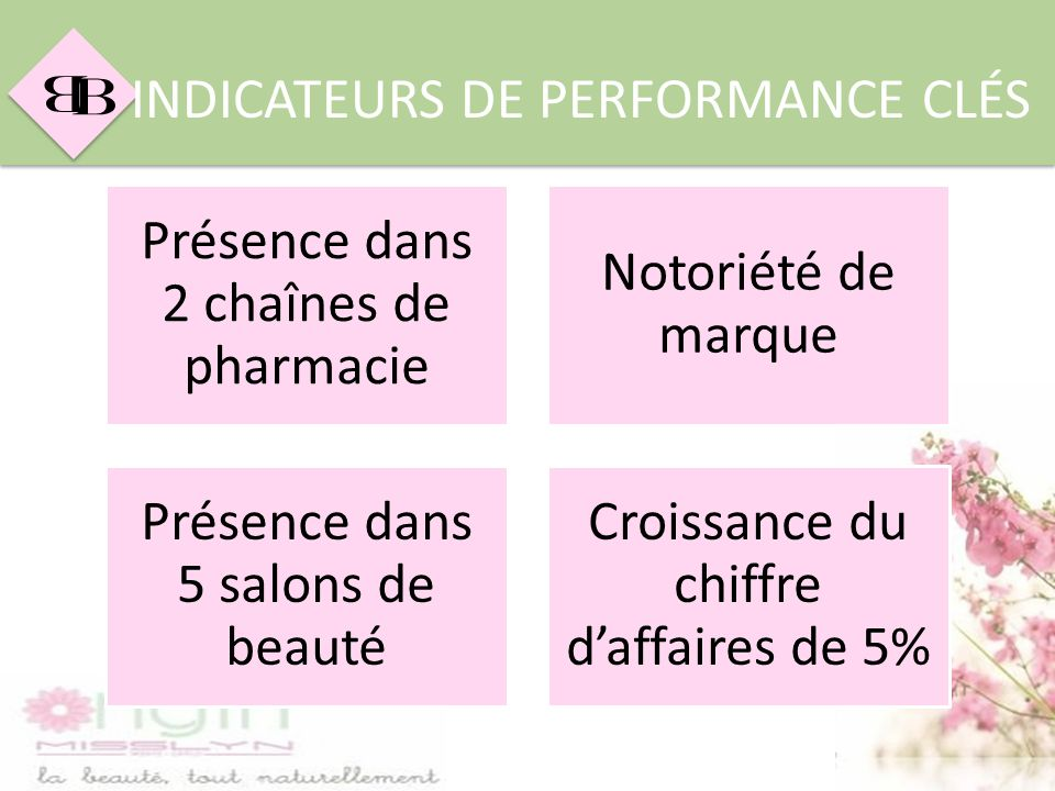 INDICATEURS DE PERFORMANCE CLÉS