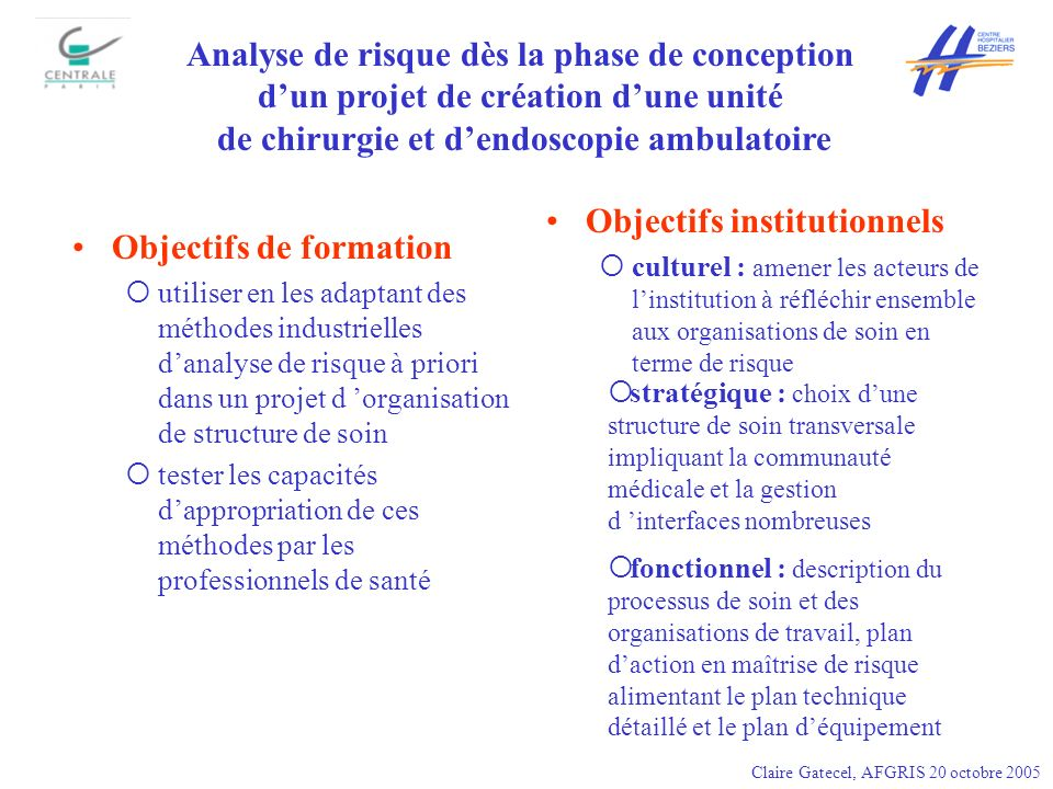 Analyse de risque dès la phase de conception