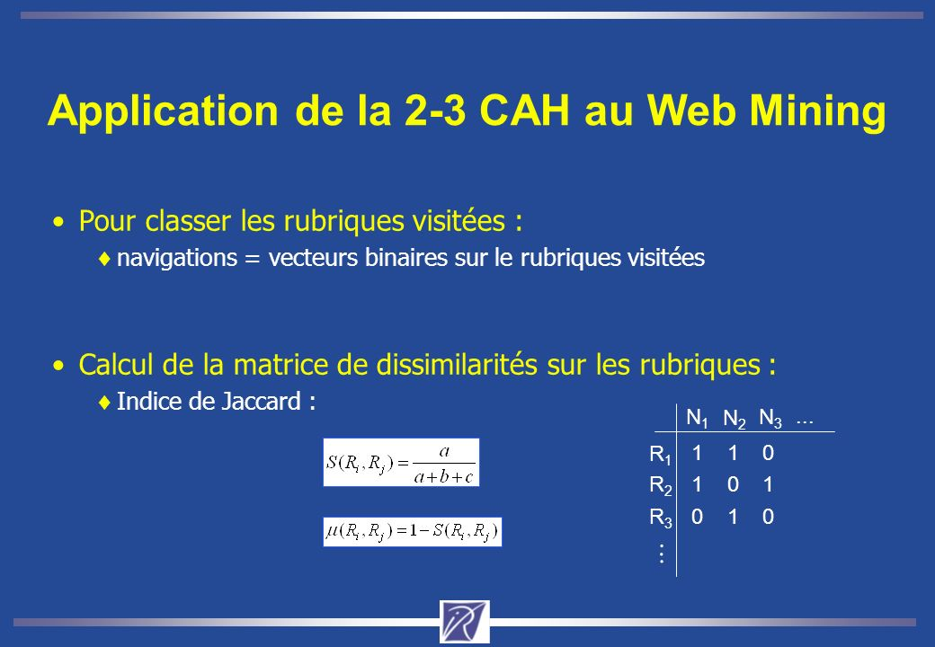 Application de la 2-3 CAH au Web Mining