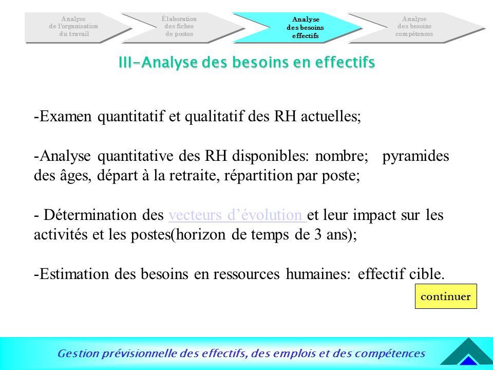 III-Analyse des besoins en effectifs