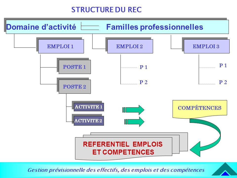 Domaine d'activité Familles professionnelles