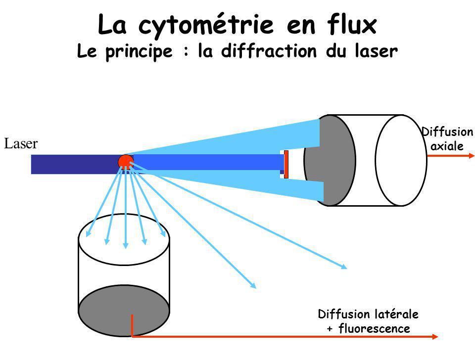 La cytométrie en flux Le principe : la diffraction du laser