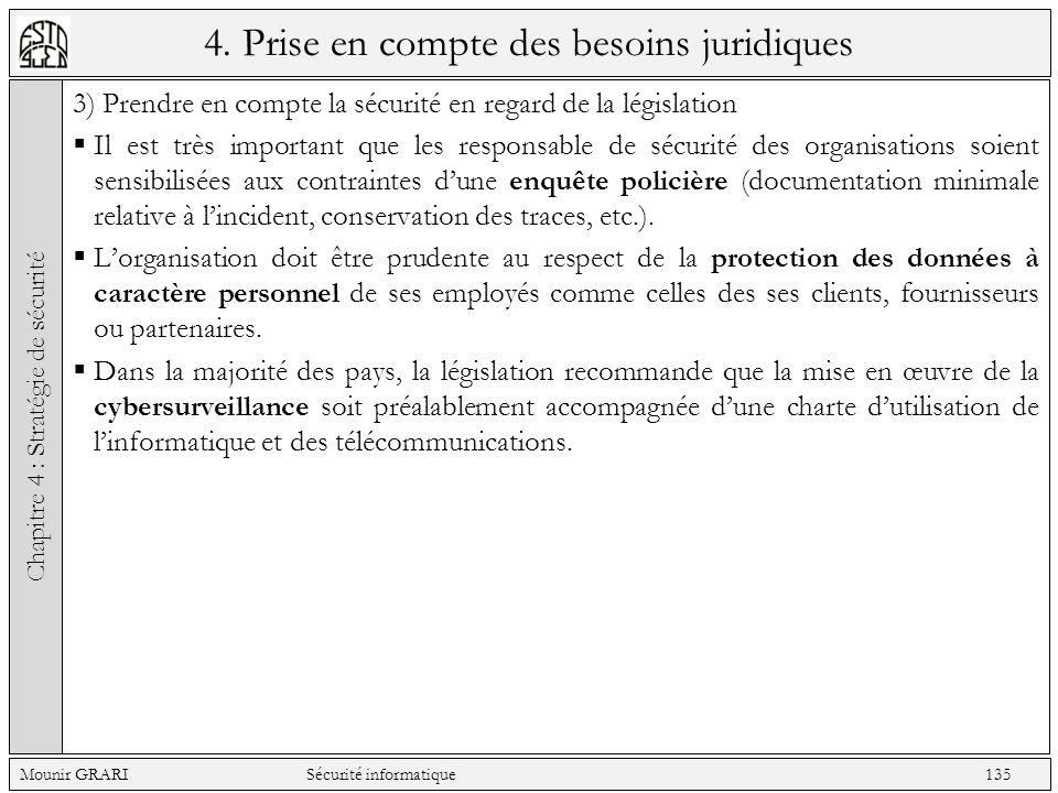 4. Prise en compte des besoins juridiques