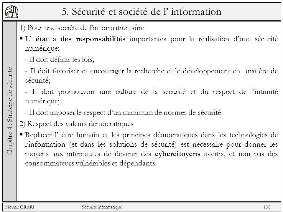 5. Sécurité et société de l' information