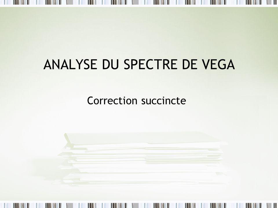 ANALYSE DU SPECTRE DE VEGA