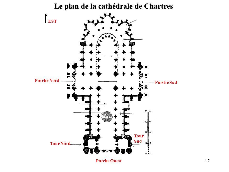 Le plan de la cathédrale de Chartres