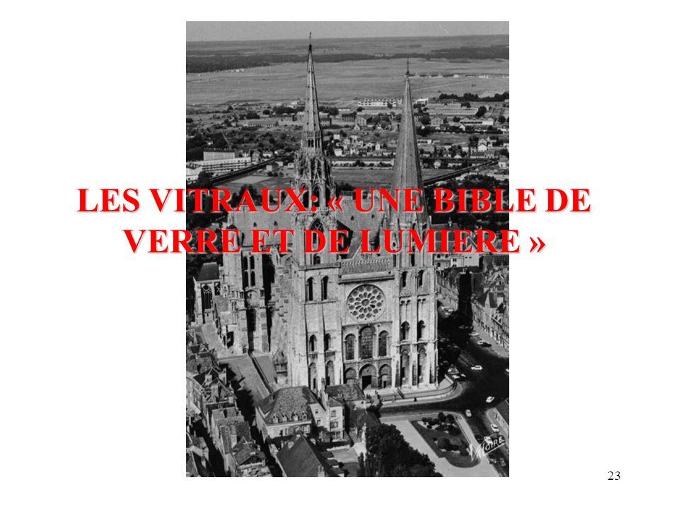 LES VITRAUX: « UNE BIBLE DE VERRE ET DE LUMIERE »
