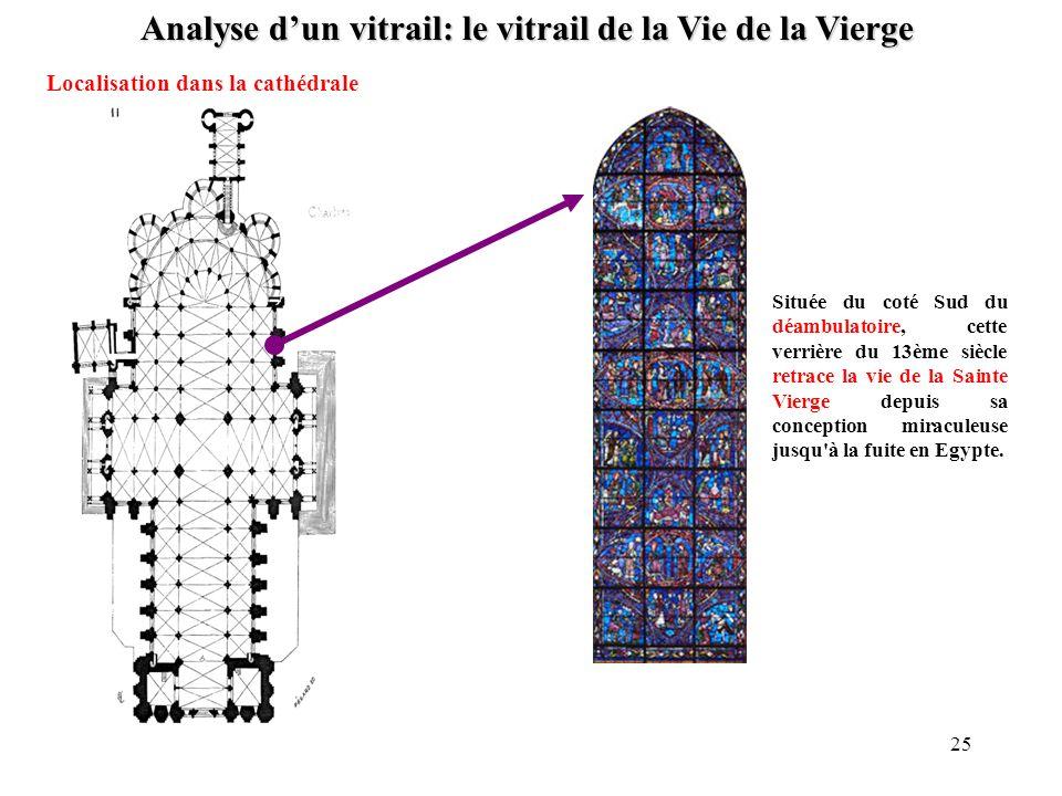Analyse d'un vitrail: le vitrail de la Vie de la Vierge