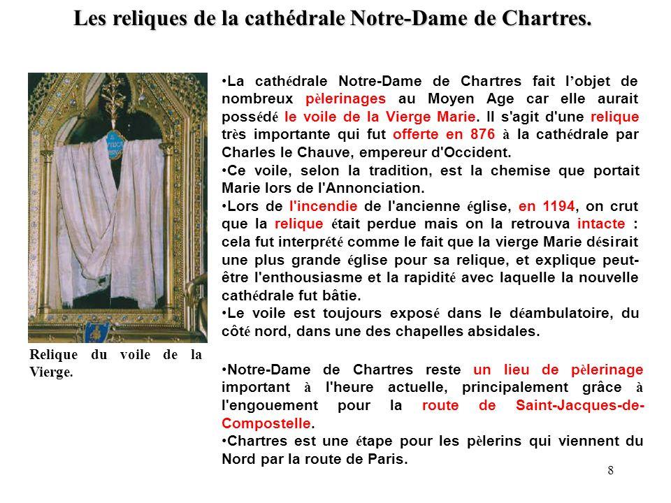 Les reliques de la cathédrale Notre-Dame de Chartres.