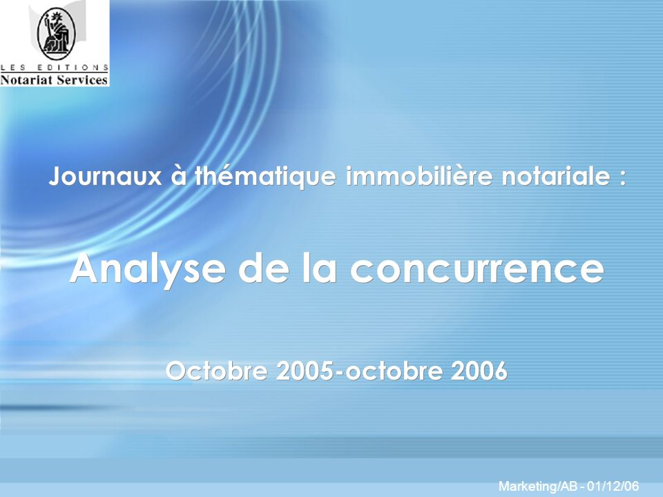 Marketing/AB Octobre 2005-octobre 2006