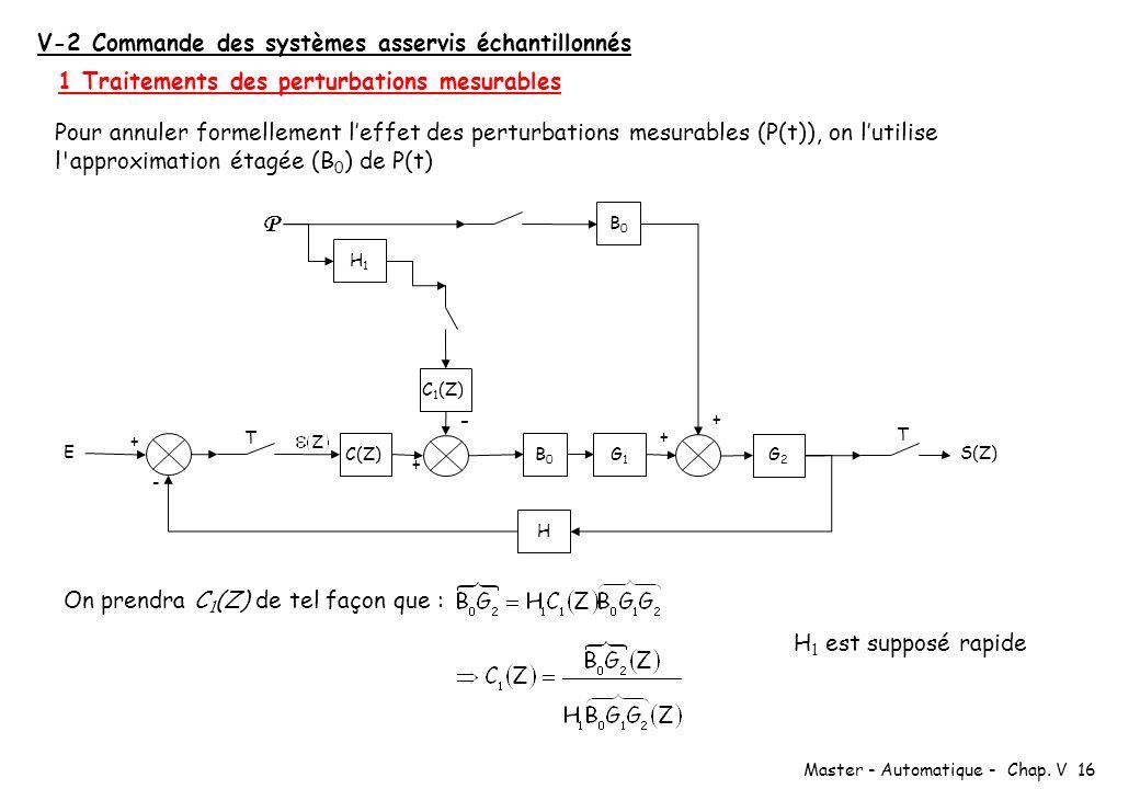 V-2 Commande des systèmes asservis échantillonnés