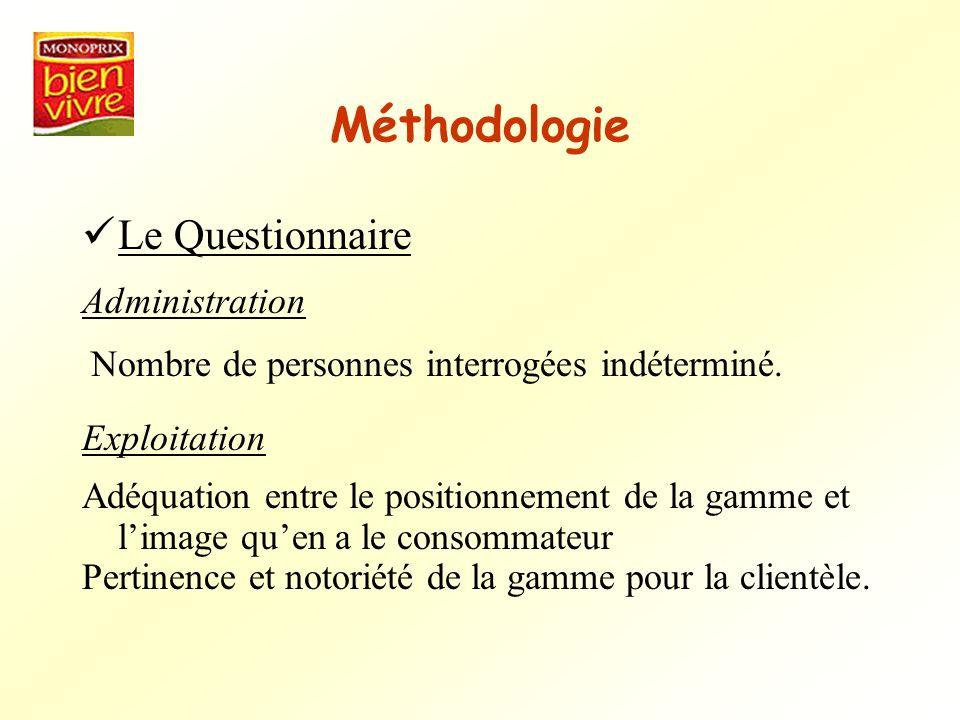Méthodologie Le Questionnaire Administration