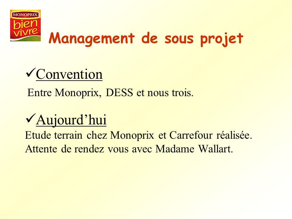 Management de sous projet