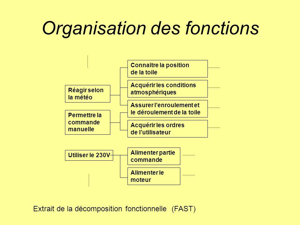 Organisation des fonctions