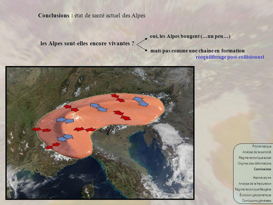 Conclusions : état de santé actuel des Alpes