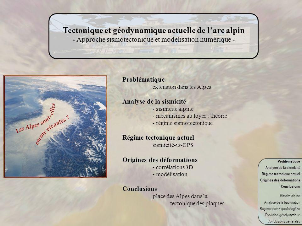 Tectonique et géodynamique actuelle de l'arc alpin