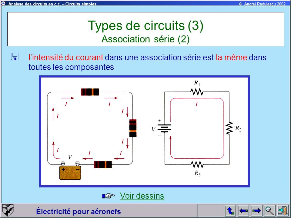 Types de circuits (3) Association série (2)
