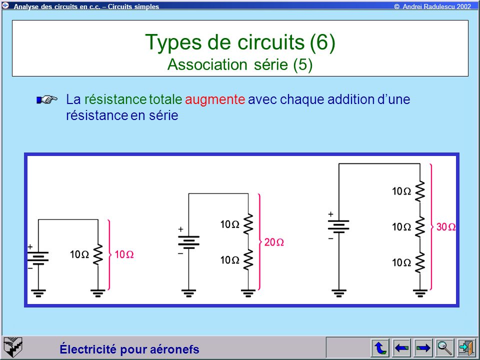 Types de circuits (6) Association série (5)