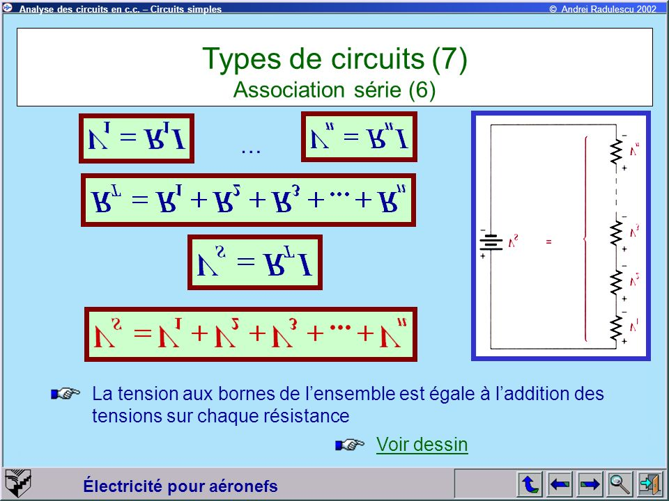 Types de circuits (7) Association série (6)