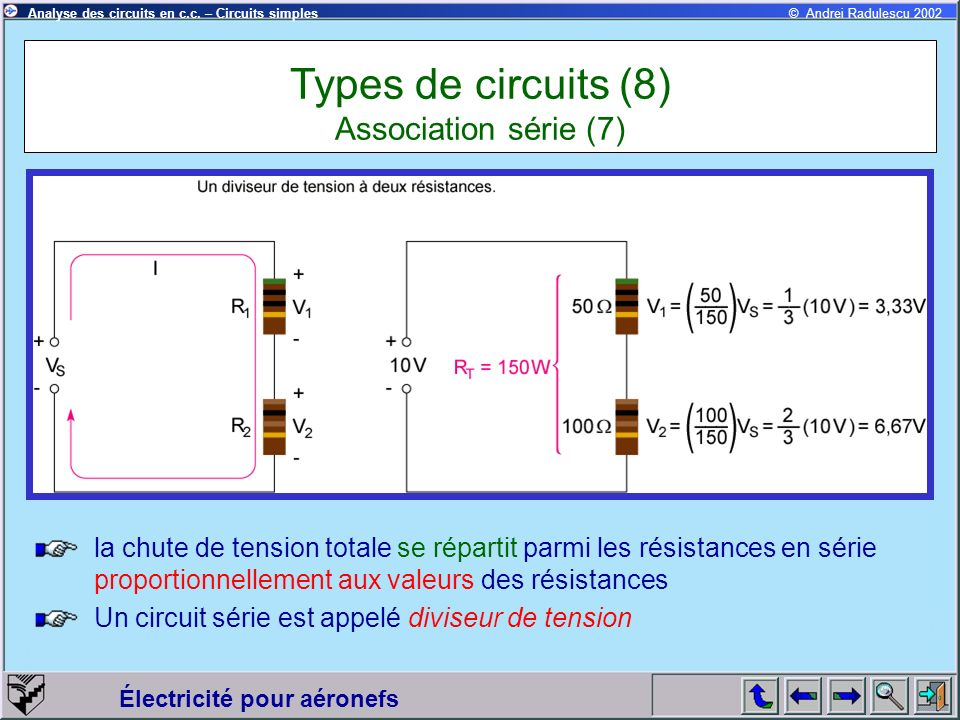Types de circuits (8) Association série (7)