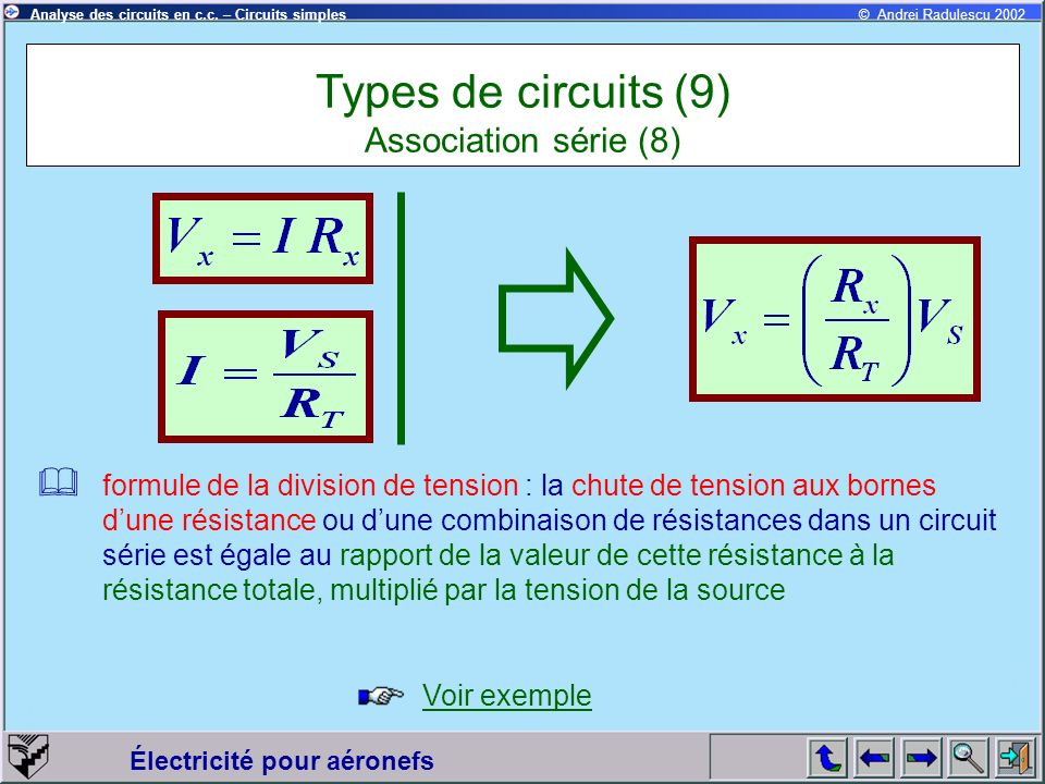 Types de circuits (9) Association série (8)