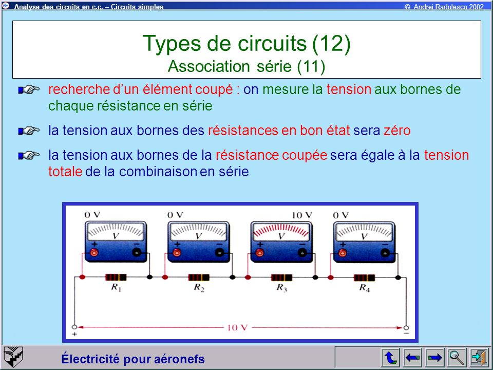 Types de circuits (12) Association série (11)
