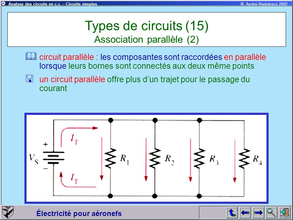 Types de circuits (15) Association parallèle (2)