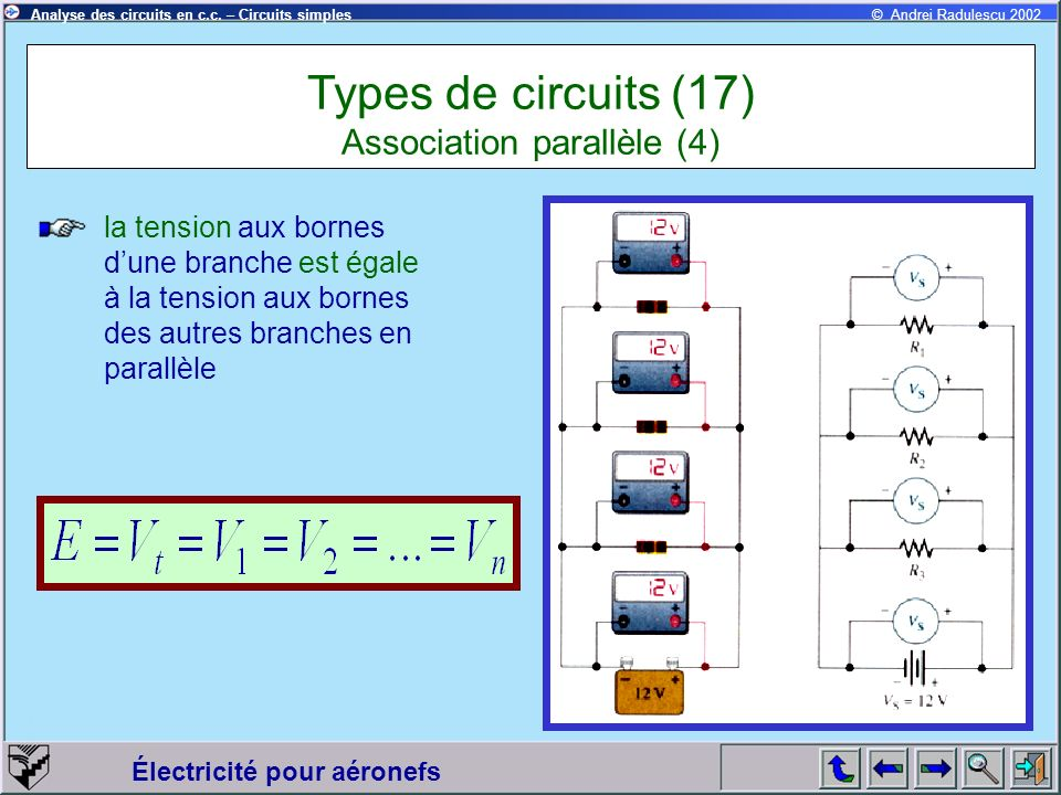 Types de circuits (17) Association parallèle (4)